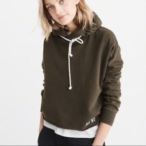 Abercrombie olive pullover hoodie